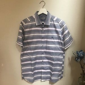 Ted Baker striped short sleeve button up shirt